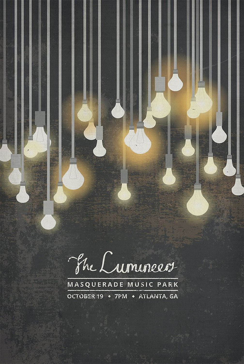 The Lumineers Tour 18x28 inches Canvas Print