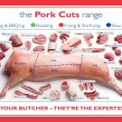 The Pork cuts range chart  13x19 inches Poster Print