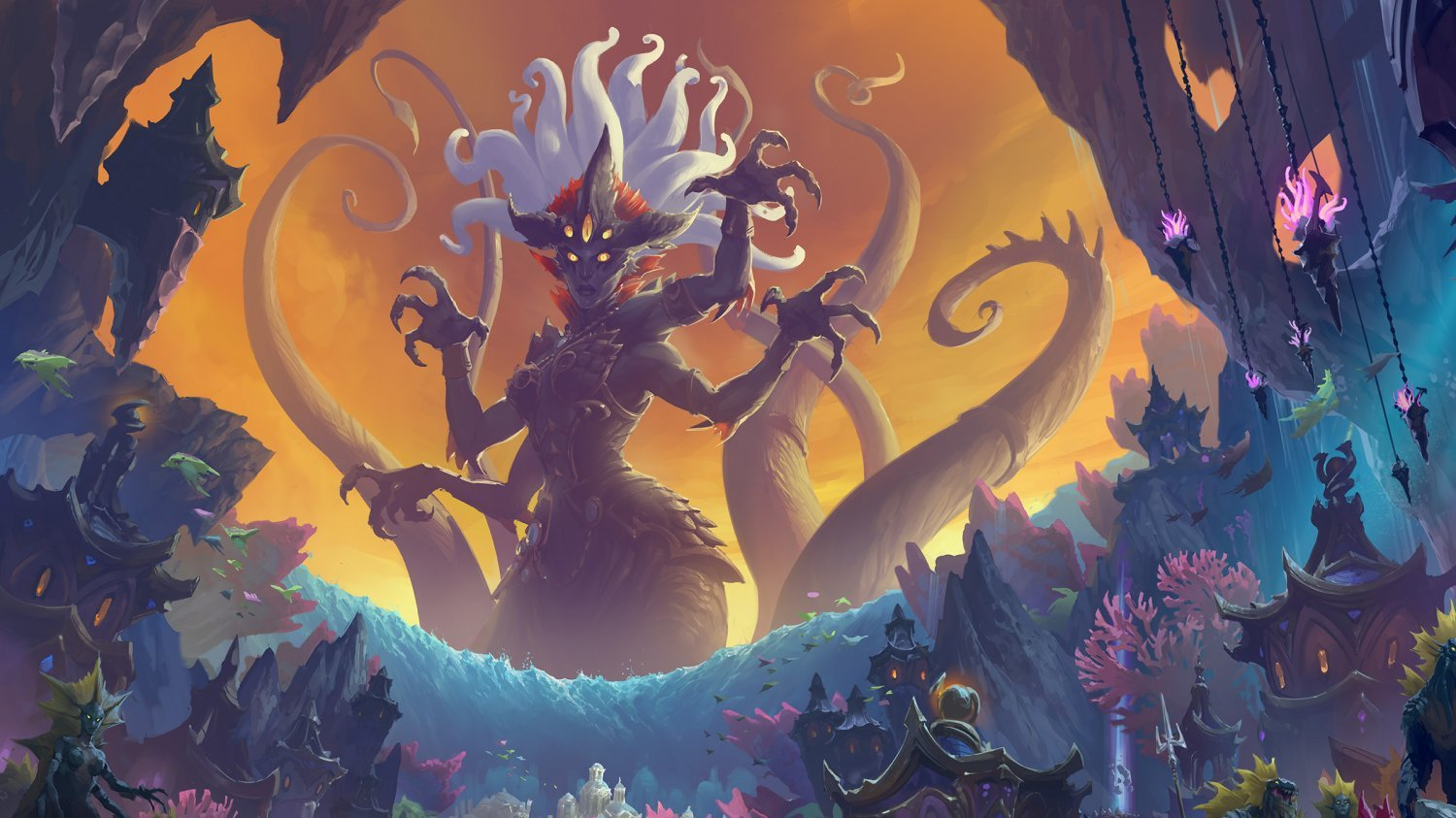 World of Warcraft Rise of Azshara Battle for Azeroth  18x28 inches Poster Print