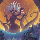 World of Warcraft Rise of Azshara Battle for Azeroth  18x28 inches Canvas Print