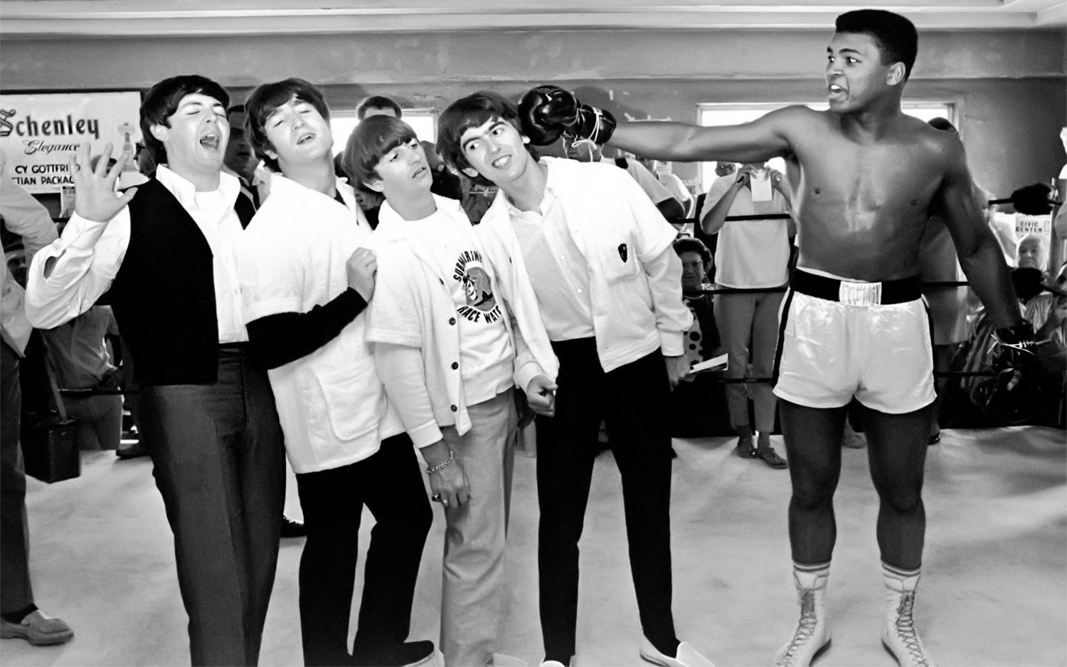 Muhammad Ali The Beatles 18x28 inches Canvas Print