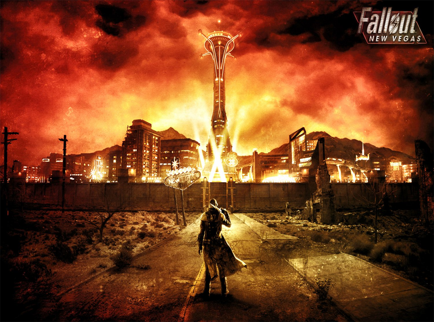 Fallout New Vegas Game  18x28 inches Poster Print