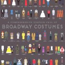 A Comprehensive Curtain Call of Broadway Costumes Chart  18x28 inches Canvas Print