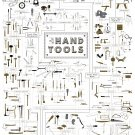 Hand Tools Chart  18x28 inches Canvas Print