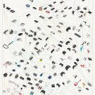 The Evolution of Video Game Controllers Chart  24x35 inches Canvas Print