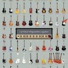 Visual Compendium of Guitars Chart  18x28 inches Canvas Print