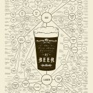 The very many varieties of Beer Chart  18x28 inches Canvas Print