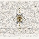 The Magnificent Multitude of Beer Chart   24x35 inches Canvas Print
