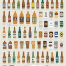 Fantastical Fictive Beers Chart  24x35 inches Canvas Print