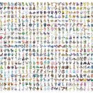 All Pokemons Chart  24x35 inches Canvas Print