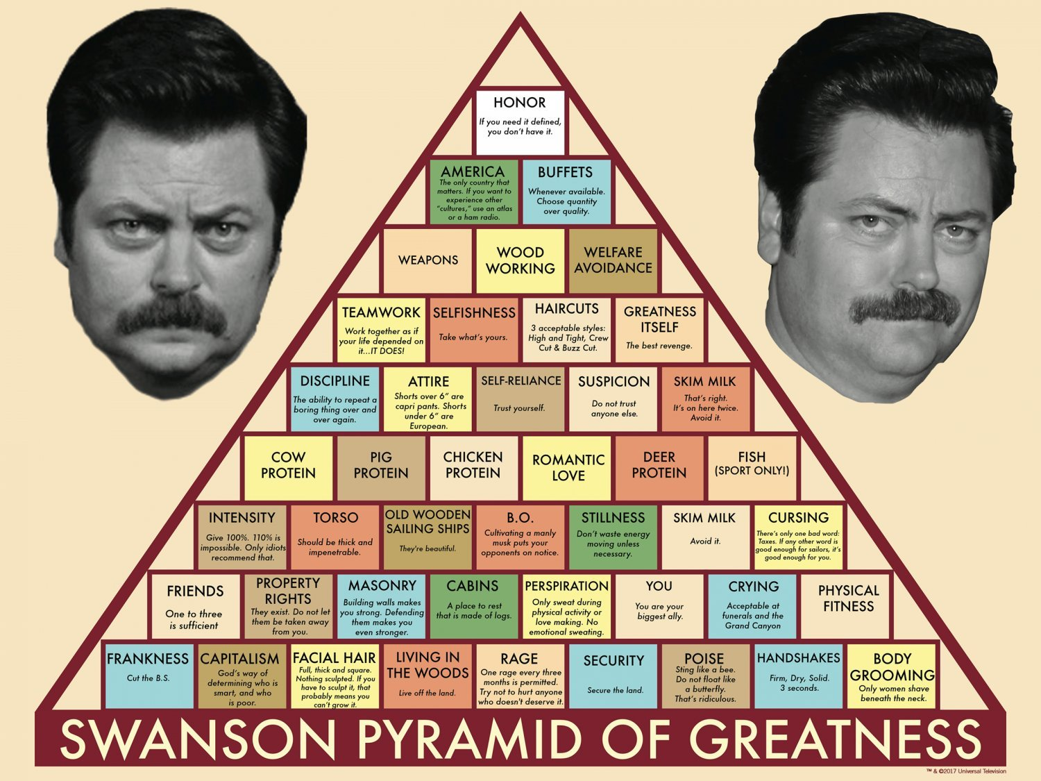 Swanson Pyramid of Greatness Chart  18x28 inches Canvas Print