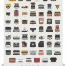 A Visual Compendium of Typewriters Chart  18x28 inches Canvas Print