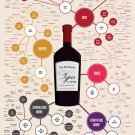 The Different Types of Wine Chart   18x28 inches Poster Print