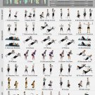 Dumbbell Workout Chart  18x28 inches Canvas Print