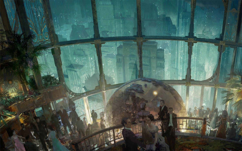 BioShock Rapture Game  18x28 inches Canvas Print