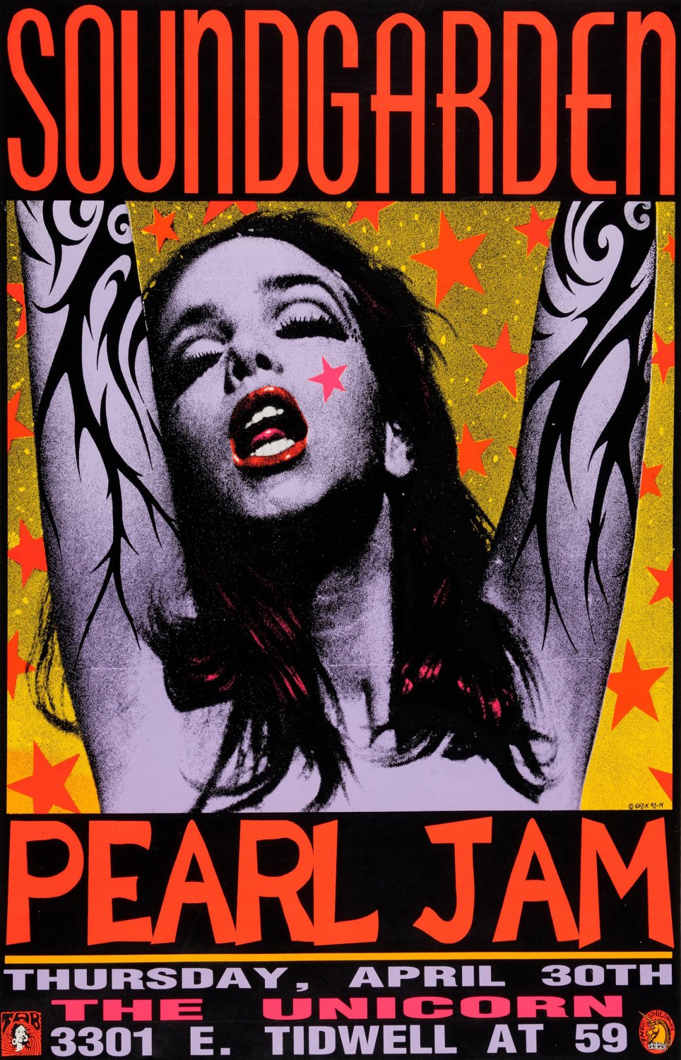 Eddie Vedder Pearl Jam Concert  18x28 inches Poster Print