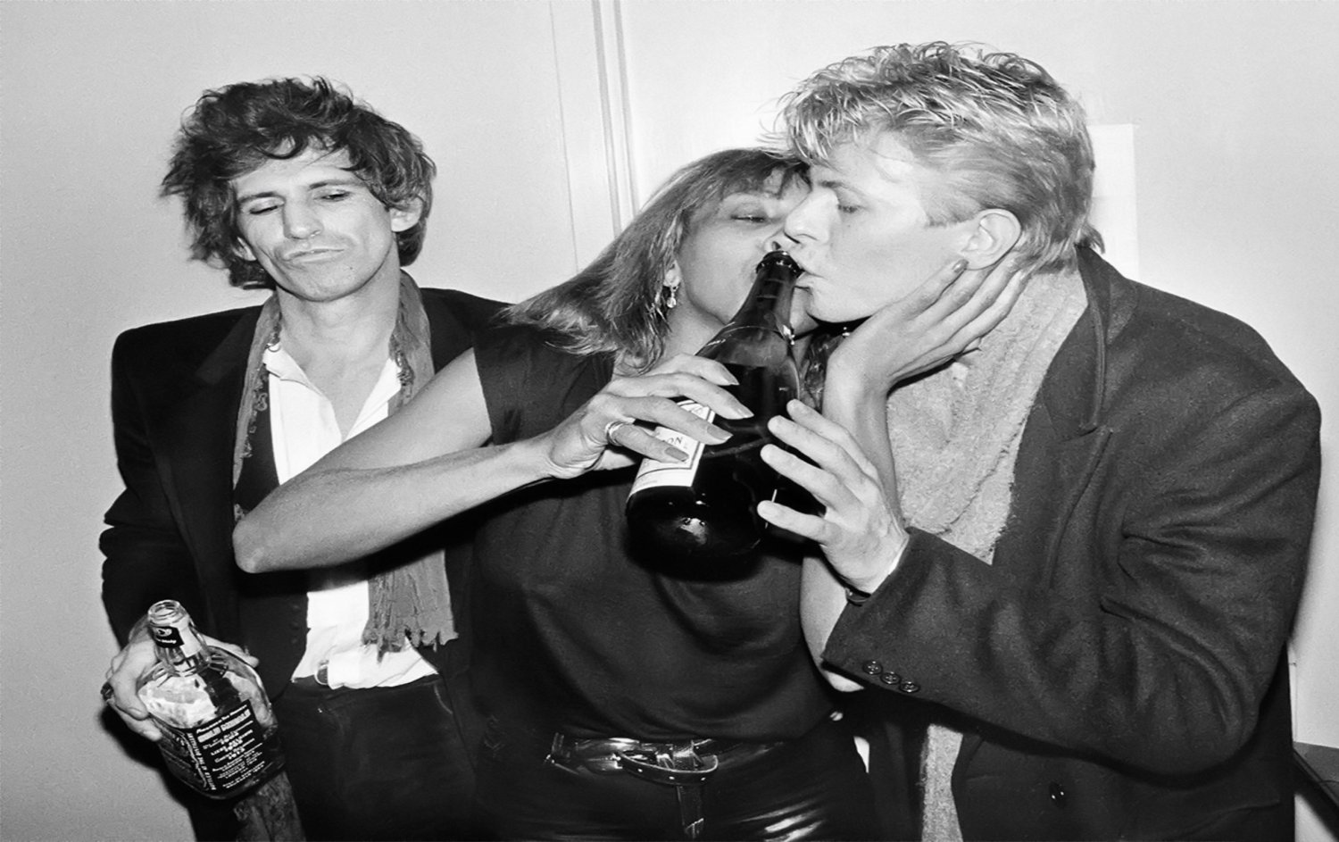 Keith Richards Tina Turner  David Bowie  18x28 inches Canvas Print