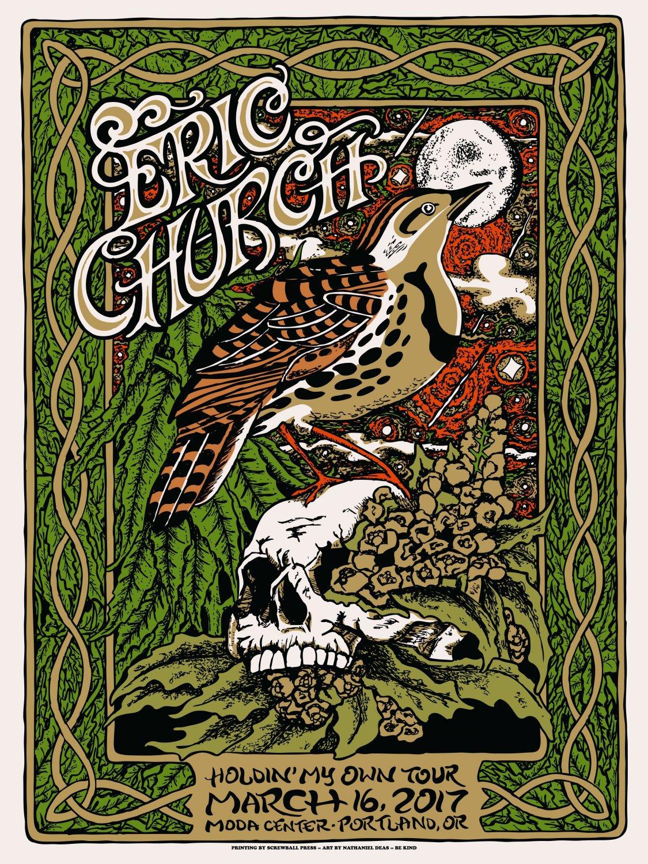 Eric Church Concert Tour  18x28 inches Poster Print