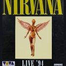 Nirvana Kurt Cobain In Utero Tour Vintage Concert   18x28 inches Canvas Print
