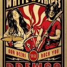 The White Stripes Our Beers Will Rock You Brewco Concert    18x28 inches Canvas Print