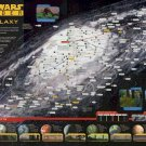 Star Wars Insider The Galaxy Chart Map  24x35 inches Canvas Print