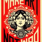 Make Art Not War  18x28 inches Canvas Print