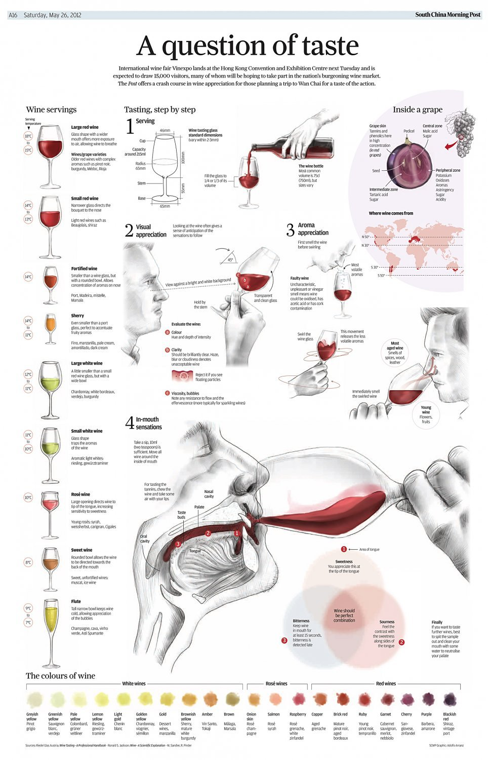A Question of Taste Wine Chart  18x28 inches Poster Print