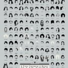 A Visual Compendium of Notable Haircuts in Hollywood Chart  24x35 inches Canvas Print