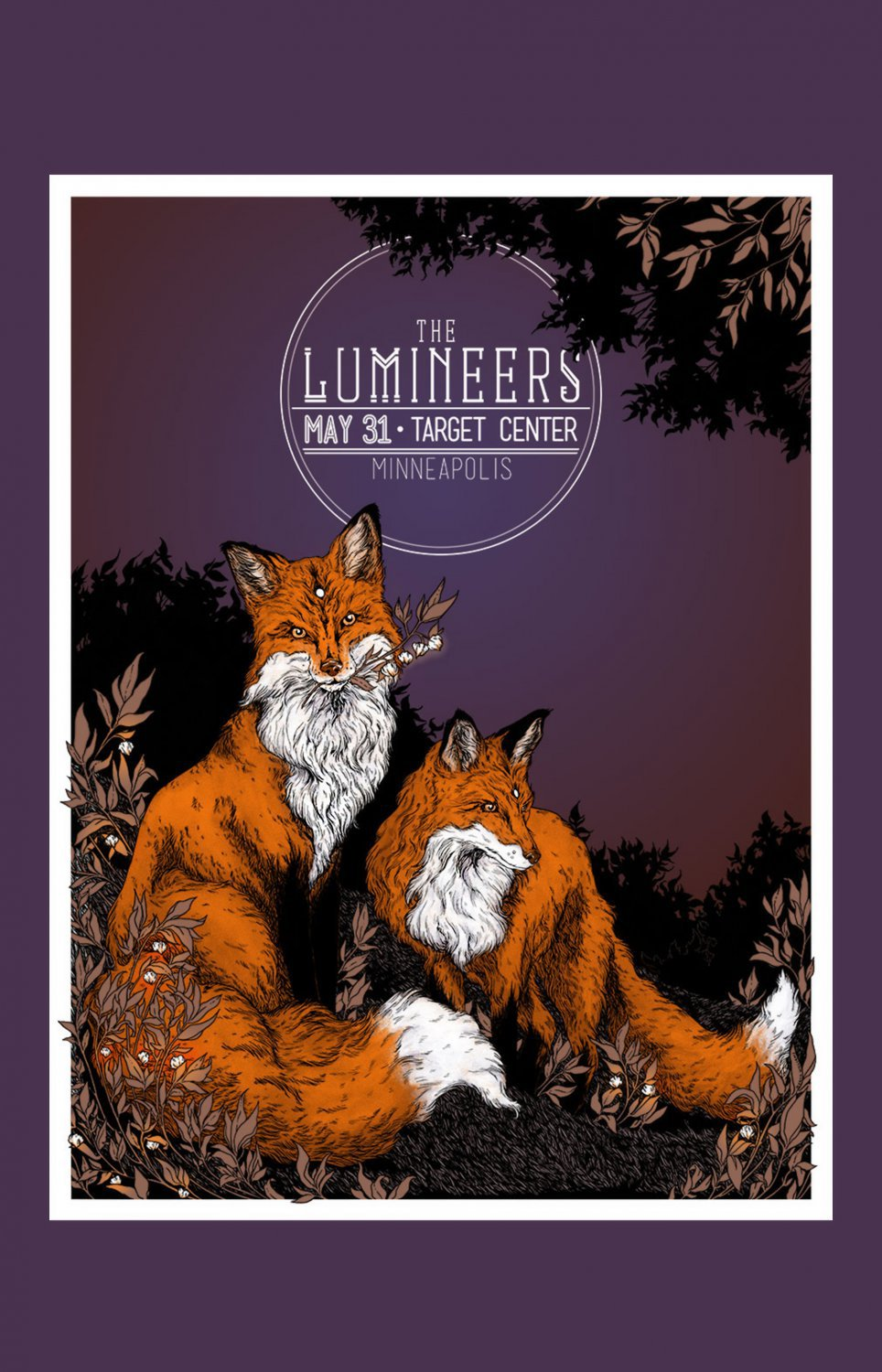 The Lumineers Tour Concert  18x28 inches Canvas Print