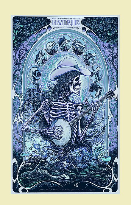 The Avett Brothers Concert   13x19 inches Poster Print