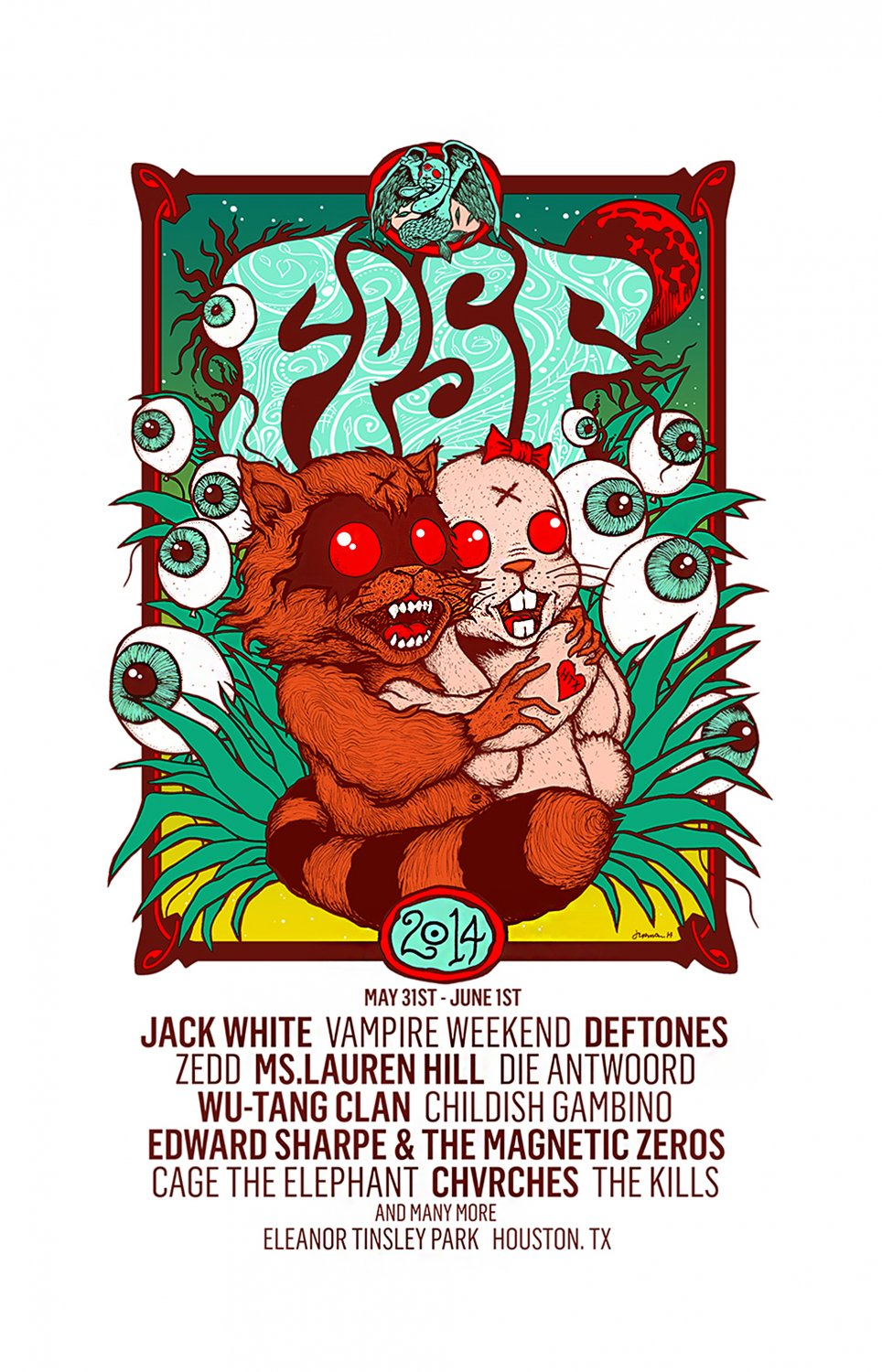 FPSF Jack White Childish Gambino Die Antwoord  18x28 inches Poster Print