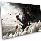 Ghost of Tsushima, Game Print, PS4 Print, 10x14 inches Stretched Canvas
