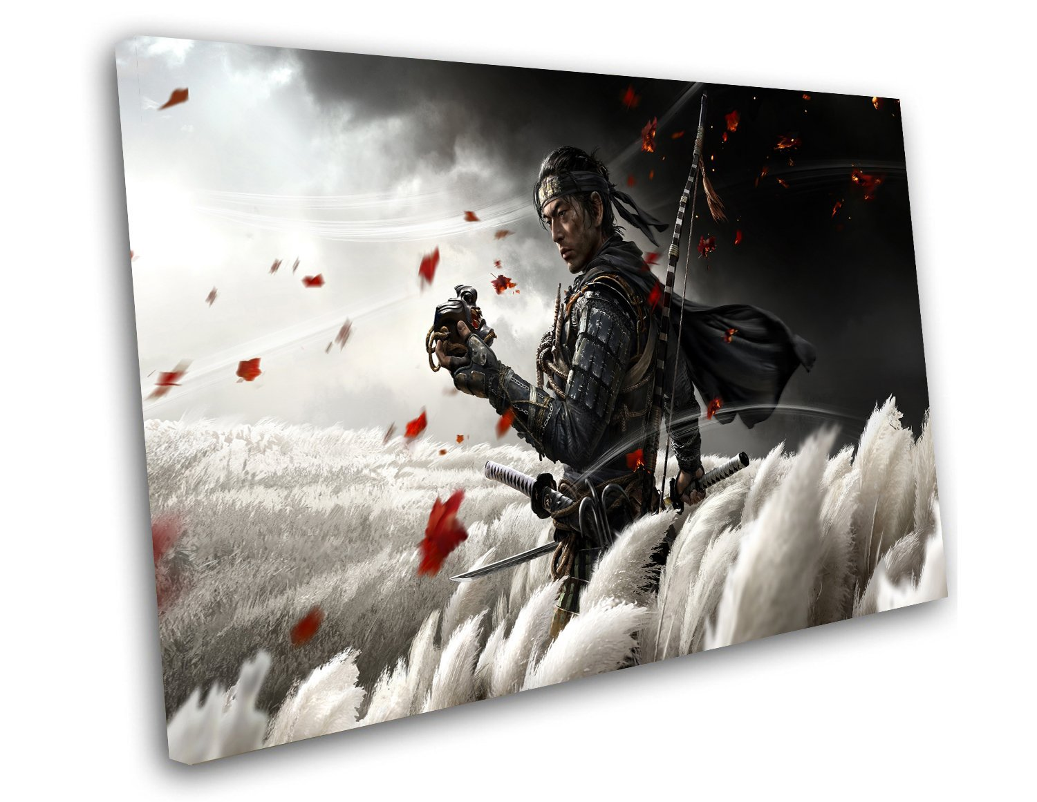 Ghost of Tsushima, Game Print, PS4 Print, 14x20 inches Stretched Canvas