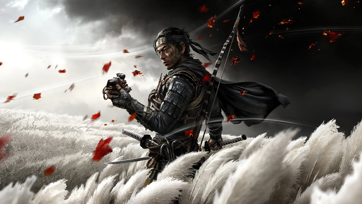 Ghost of Tsushima, Game Print, PS4 Print, 18x28 inches Canvas Print
