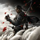 Ghost of Tsushima, Game Print, PS4 Print, 24x35 inches Canvas Print