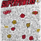 The Giant Omnibus of Superpowers Chart  18x28 inches Canvas Print