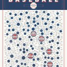 The Meticulous Metric of Baseball Team Names Chart   18x28 inches Poster Print