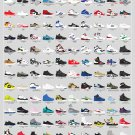 A Visual Compendium of Sneakers Chart  18x28 inches Canvas Print