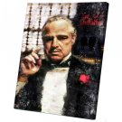 The Godfather, Vito Corleone, Marlon Brando , Al Pacino  12x16 inches Stretched Canvas
