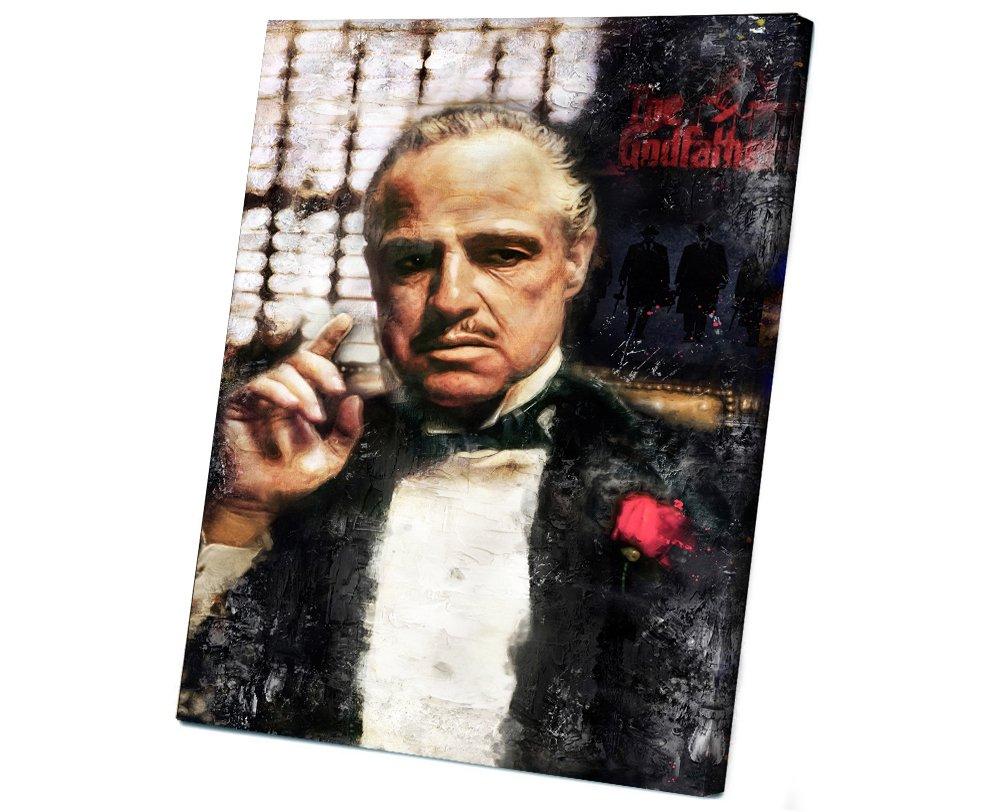 The Godfather, Vito Corleone, Marlon Brando , Al Pacino  14x20 inches Stretched Canvas