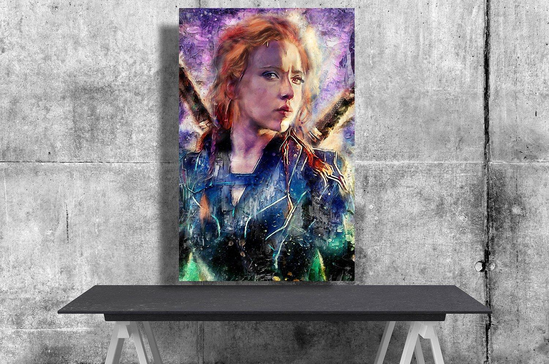 Black Widow, Natasha Romanoff, Scarlett Johansson  18x28 inches Poster Print