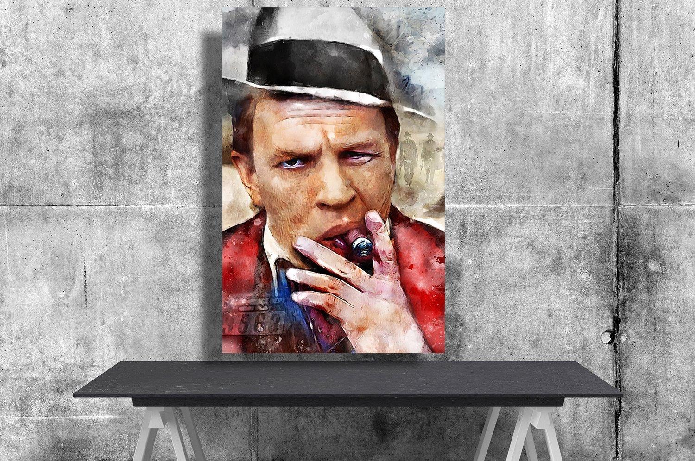 Al Capone, Tom Hardy   18x28 inches Canvas Print