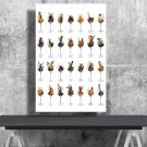Wine Aromas, Chart  24x35 inches Canvas Print