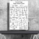 Ananda Marga Yoga Asanas Postures, Chart 18x28 inches Poster Print