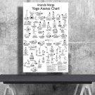 Ananda Marga Yoga Asanas Postures, Chart  24x35 inches Canvas Print