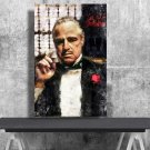 The Godfather, Vito Corleone, Marlon Brando 18x28 inches Canvas Print