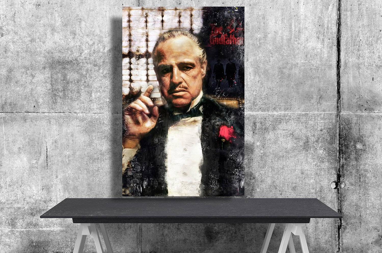 The Godfather, Vito Corleone, Marlon Brando   24x35 inches Canvas Print