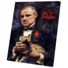 The Godfather, Vito Corleone, Marlon Brando   14x20 inches Stretched Canvas