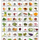 Fruits and Vegetables Infographic Chart   18x28 inches Canvas Print