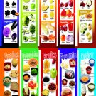 Colored Fruits and Vegetables Grains Protein Dairy Chart   18x28 inches Poster Print